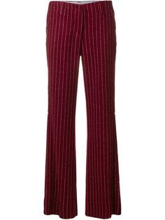 расклешенные брюки в полоску Dondup
