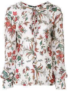 блузка с цветочным принтом McQ Alexander McQueen