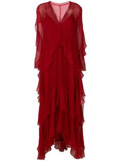 ярусное платье макси  Alberta Ferretti