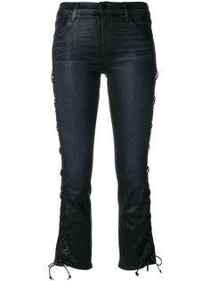 укороченные джинсы со шнуровкой J Brand