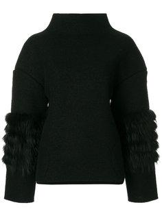 свитер с отделкой из лисьего меха Saks Potts