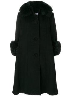 пальто с отделкой из лисьего меха Saks Potts