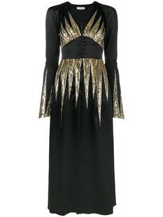 платье макси с отделкой пайетками Suzanne Attico