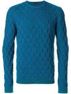 трикотажный свитер с вышивкой Roberto Collina