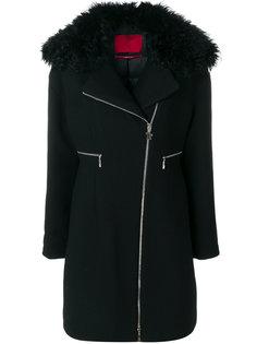 приталенное пальто на молнии  Moncler Gamme Rouge