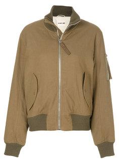 куртка-бомбер с отворотной горловиной  Helmut Lang