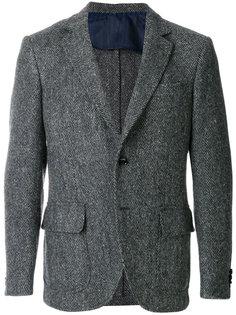 пиджак с узором в елочку Mp  Massimo Piombo