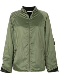 куртка-бомбер из шелковистой ткани 6397
