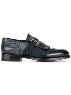 туфли-монки с потертым эффектом Santoni