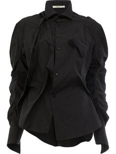 рубашка со сборками на рукавах Aganovich