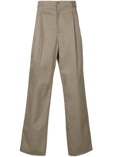 плиссированные широкие брюки  Raf Simons