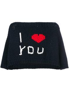 укороченная футболка I Love You Raf Simons