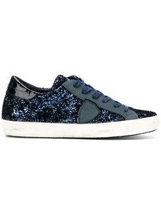 кроссовки с блестками на шнуровке Philippe Model