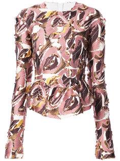 блузка с абстрактным принтом Lemaire