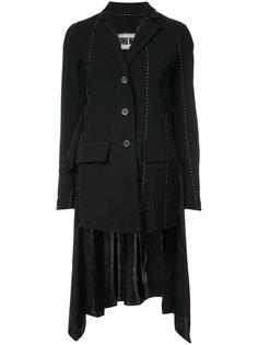 пиджак с рюшами на спине и контрастной отделкой Uma Wang