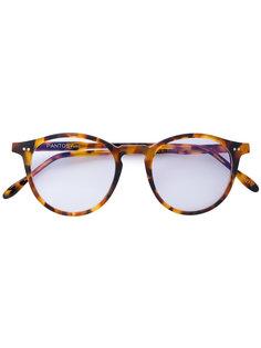 круглые очки с эффектом черепашьего панциря Pantos Paris