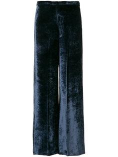 бархатные расклешенные брюки Forte Forte