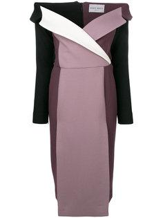облегающее платье дизайна колор-блок Daizy Shely
