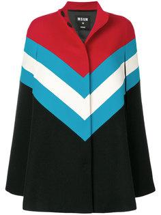 строгое пальто колор блок  MSGM