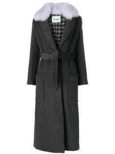 пальто с оторочкой лисьим мехом Ava Adore