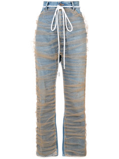 джинсы прямого кроя с тюлевой отделкой Off-White