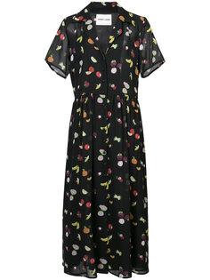 платье с принтом фруктов Sandy Liang