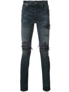 biker panelled distressed jeans Amiri