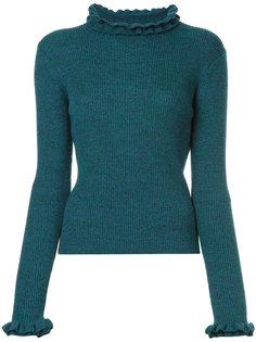 приталенный свитер с оборочной отделкой Le Ciel Bleu