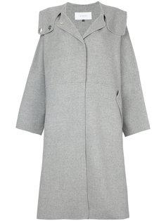 пальто свободного кроя с капюшоном Le Ciel Bleu