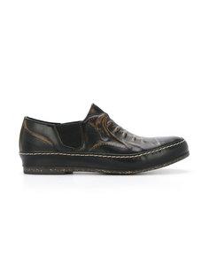 """туфли с эффектом """"тромплей"""" Maison Mihara Yasuhiro"""