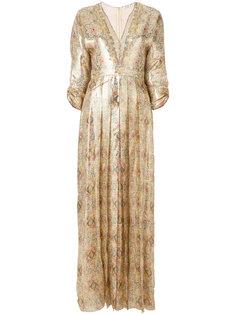 плиссированное платье с рисунком Vilshenko
