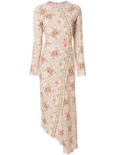 асимметричное платье с принтом  Vilshenko