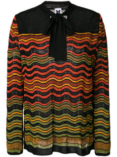 patterned pussy bow top M Missoni