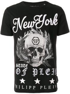 футболка с принтом черепа New York  Philipp Plein
