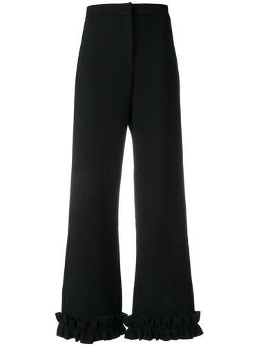 брюки с оборками по краю  Vivetta