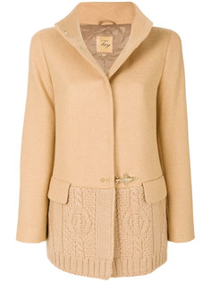 cable knit panelled jacket Fay