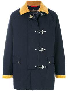 пальто с контрастным воротником Fay