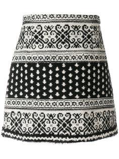 юбка с жаккардовым узором Moncler Gamme Rouge