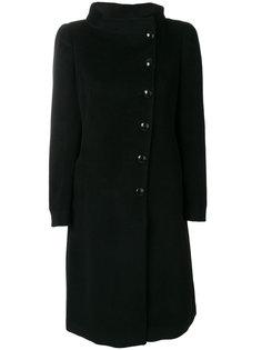 длинное пальто с застежкой сбоку Armani Collezioni