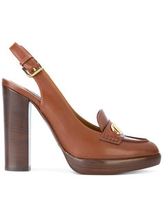 туфли с ремешком на пятке Ralph Lauren Collection