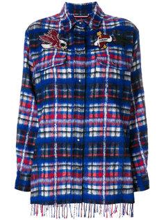 рубашка в клетку с бахромой  Hilfiger Collection