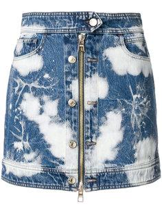 выбеленная мини-юбка на молнии  Hilfiger Collection