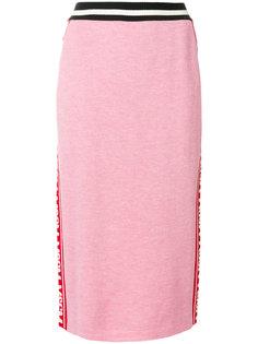 юбка-карандаш с логотипом  MSGM