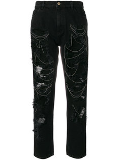 джинсы с прорехами  Hilfiger Collection