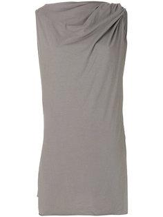платье с драпированной деталью Rick Owens DRKSHDW