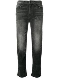 укороченные джинсы с потертой отделкой Hudson