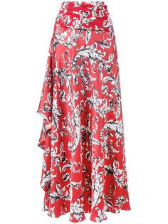 юбка-макси асимметричного кроя с драпировками JW Anderson