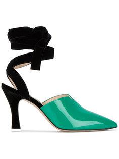 туфли-лодочки Olivia с бархатной завязкой на щиколотке Attico