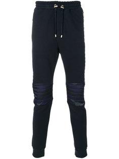 спортивные брюки с камуфляжными панелями Balmain