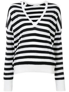 свитер в полоску с V-образным вырезом Rag & Bone